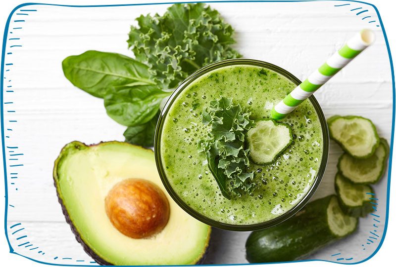 מאכלים ומשקאות ירוקים