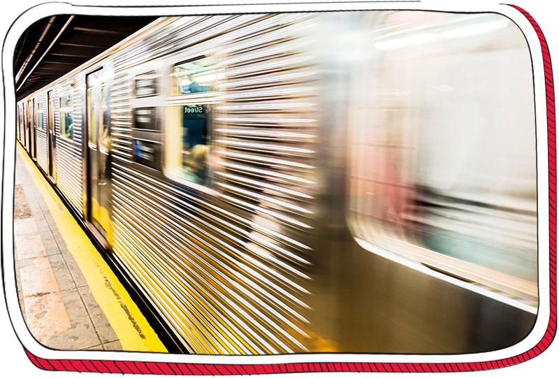 רכבת תחתית נוסעת