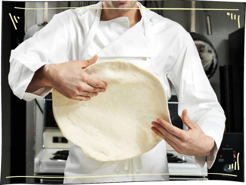 הכנת בצק פיצה